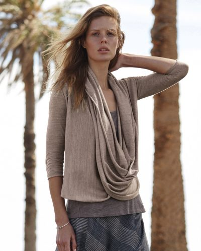 Product Image of Drape front linen top